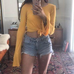 Yellow tie top